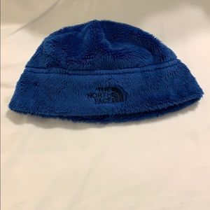 The north face blue hat size 12 months